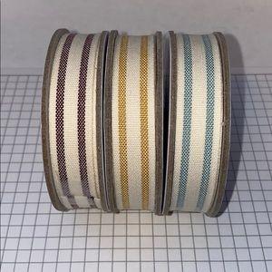 "Stampin' Up! 5/8"" Striped Cotton Ribbon"